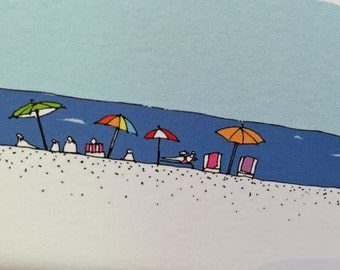 Set of  Down the Shore Cards - wish you were here