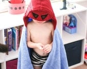 Personalized Yikes Twins Superhero hooded towel