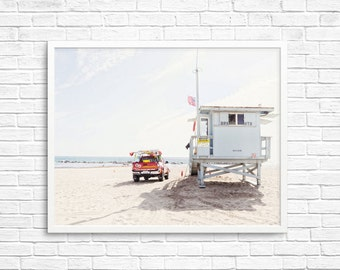 BUY 2 GET 1 FREE California Wall Art, Venice Beach, Beach Photo, Sand, Ocean, California Summer, Wall Decor, California Decor - Venice Hut