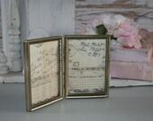 Vintage Bi-fold Brass Picture Frame