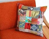 Patchwork Pillow Handmade Accent Pillow Decorative Pillow