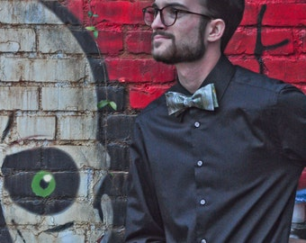 Self Tie Bow Tie Black for All Occasions Made in Asheville, NC MM-#15-49