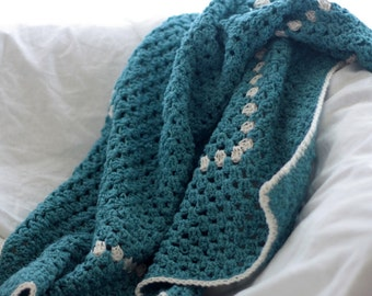 Crochet baby blanket, baby afghan, granny square