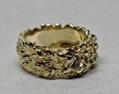 Oakleaf and acorn ring in 14K gold reserved for Pugsmother