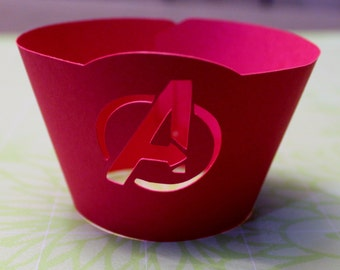 Avengers Inspired Cupcake Wrappers -- Set of 12