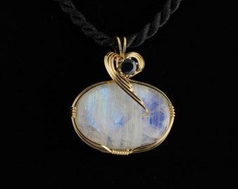 Moonstone Pendant. Listing 449659594