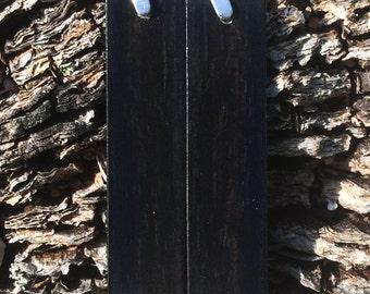 Black Ebony Wood Earrings