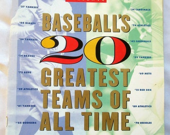 Vintage SPORTS ILLUSTRATED Magazine Baseball's 20 Greatest Teams of all Time NY Yankees Rare Find