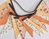 SALE Thanksgiving bunting, fall bunting or autumn bunting, 14 flags 2.85m
