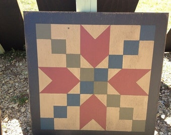 PRiMiTiVe Hand-Painted 3' Barn Quilt - Stepping Stone