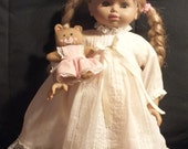 PLAYABLE Doll from the 90s with her GORGEOUS VICTORIAN dress on Lovely with her Teddy