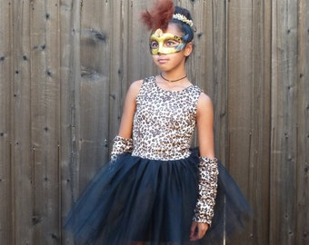 Leopard/Cheetah Print Dress/Costume for Little Girl Size 1 - 5