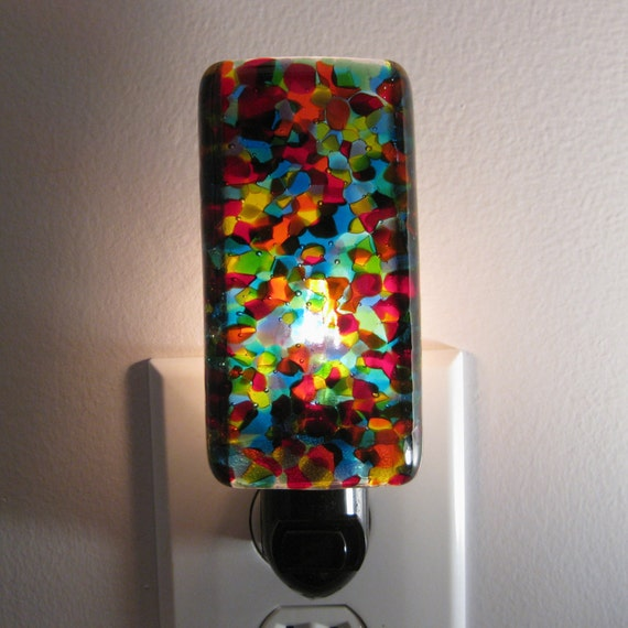 Night light rainbow colored kitchen or bathroom night light for Bathroom night light