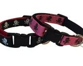 Pirate Cat Collar Breakaway - Pink or Black