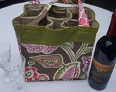 6 Pocket Bag For Winery Hopping, Soccer, Baseball, Lacrosse, Crafts and the Beach