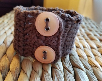Crocheted Cuff Bracelet *Free Shipping*