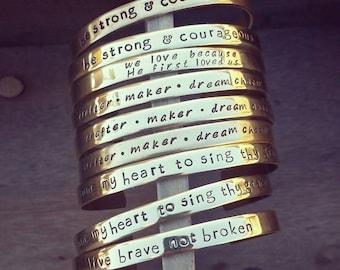 Brass Cuff Bracelet (Medium Width)