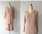 25% OFF : Martha Weathered dress & jacket | vintage 1920s dress and jacket • gabardine 20s dress and coat