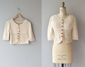 Sinaloa sweater | crochet cardigan | vintage 1970s crochet sweater | cream cotton crochet 70s cardigan