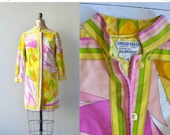 25% OFF.... Pucci coat | vintage 1960s spring coat • mod psychedelic velvet coat