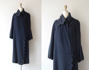 Paxton House coat | vintage 1920s coat | embroidered 20s gabardine wool coat