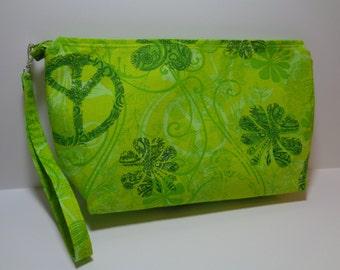 Clutch Bag Wristlet Green Pocketbook Purse Handbag