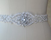 wedding Belt, Bridal Belt, Sash Belt, Crystal Rhinestone,ivory sash