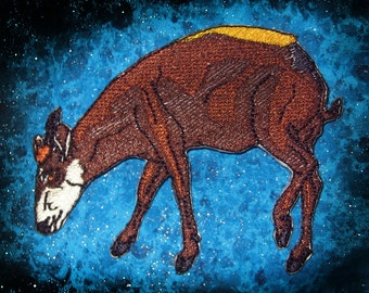 Yellow Backed Duiker Deer Antelope Iron on Patch