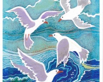 Swirling Seagulls