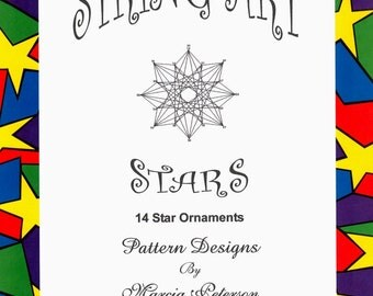 PATTERN BOOK String Art Stars Book One, 14 star patterns in Digital Download