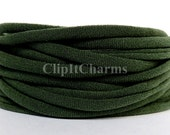 Wholesale .39+ Olive Green Stretch Nylon Chokers...Use for bottle cap jewelry,pendants,charms, headbands/doubles as a bracelet or anklet....