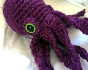 Purple Octopus Plushie // Crochet Amigurumi Stuffed Animal Plush