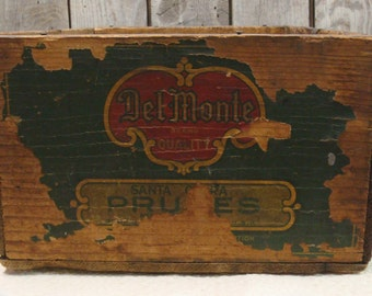 DELMONTE PRUNE Shipping Crate