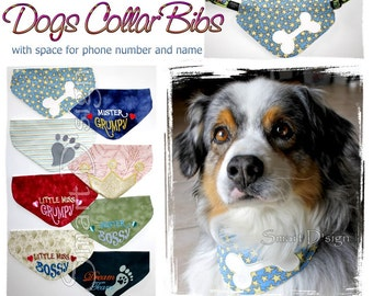 8 Dog Collar Bibs Bandanas 5x7 inch hoop ITH Machine Embroidery Design Smart D'sign