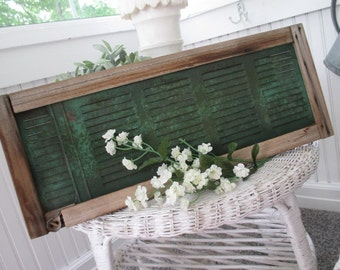 Vintage Window Screen * Shabby FALL DECOR Cottage * Old Farmhouse