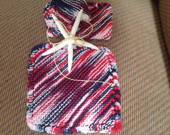 Hand Knitted Dish Cloths (3)