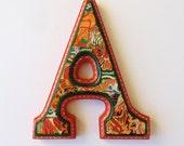Nursery Wall letter, Orange Letter A, Letter A