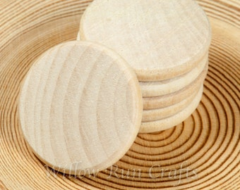 150 Pack 1 inch Wood Circle Disc Smooth Edges, Unfinished Wood Disc, Wood Circles (23-20-150)