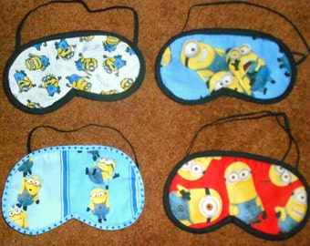 MINIONS SLEEP MASKS, Triple Layered, Thick & Plush, Your Choice