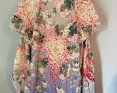 GORGEOUS Vintage 1930s 40s KIMONO Wedding JAPANESE Robe //  Med to Ex L