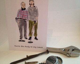 You're the Andy to my Lance Bromance greeting card - The Detectorists