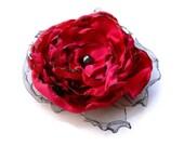 "Special Order Sue 3"" flower pins, Red, Wine, Gold & Peach"