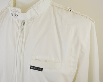 Vintage MEMBERS ONLY White Jacket sz. 40 medium 1980's
