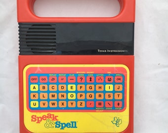 1978 1980 Speak & Spell electronic learning toy