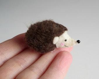 Hedgehog miniature felt stuffed animal