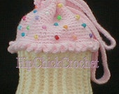 Large Version Cupcake Purse or Tote Bag CROCHET PATTERN ~ Instant Download