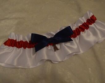 Handmade wedding garter LOS ANGELES ANGELS wedding garter