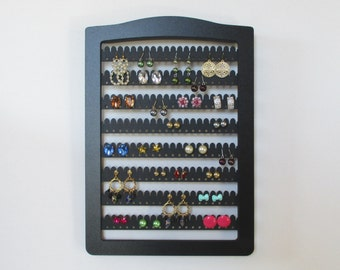 jewelry storage, Earring holder,  JEWELRY RACK,  8 bars hold up to 160 pairs,  earring display, earring stand