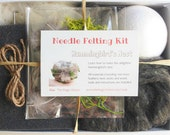 Needle Felting Kit, Hummingbirds Nest, Learn How To Needle Felt Craft, DIY, Supplies, Bird, Spring, New Hobby