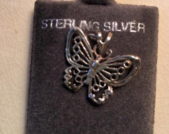 Sterling Silver Butterfly Charm Jewelry filigree